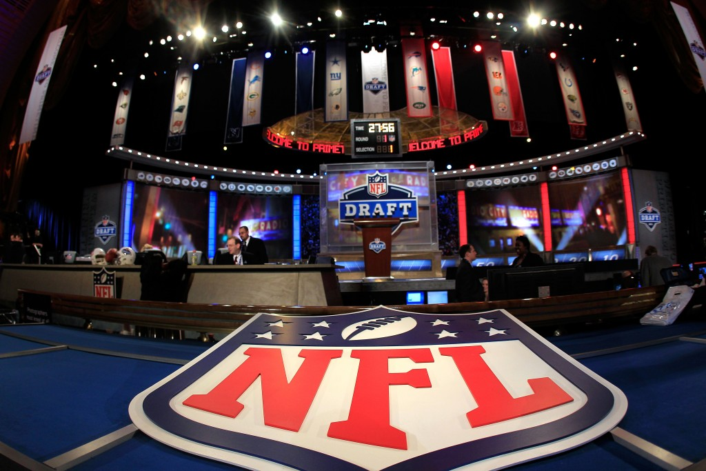NEW YORK, NY - APRIL 28: A general view of the draft stage during the 2011 NFL Draft at Radio City Music Hall on April 28, 2011 in New York City. (Photo by Chris Trotman/Getty Images)